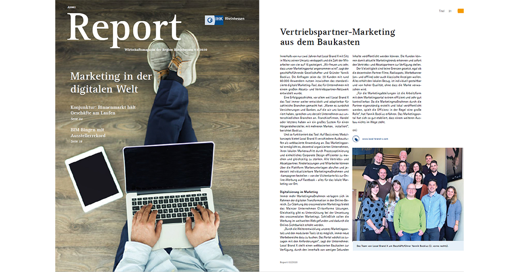 Marketing in the digital world - Local Brand X in the IHK business magazine