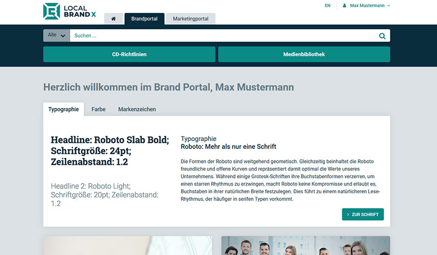Patterns Corporate Design im Brandportal
