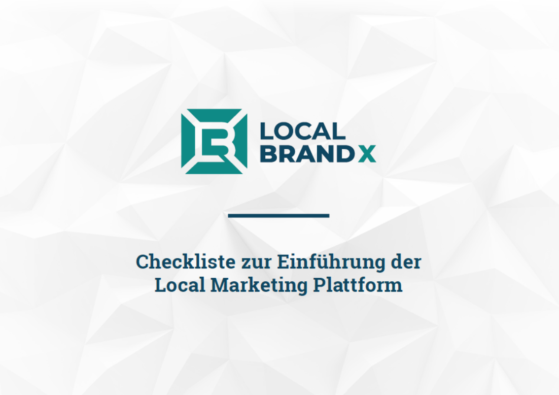 Checkliste zur Einführung der Local Marketing Plattform