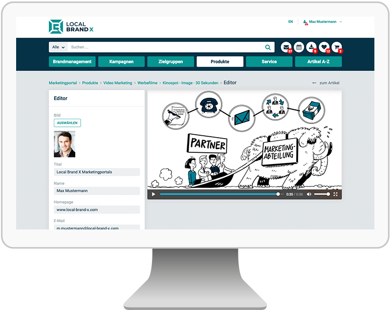 explenatory videos in the marketingportal