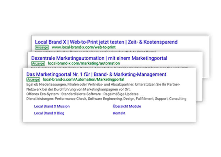 Google Ads im Marketingportal