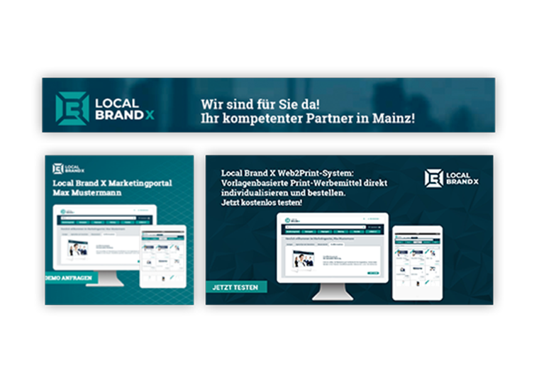 Online Banner im Marketingportal