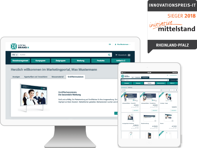 Übersicht Marketingportal