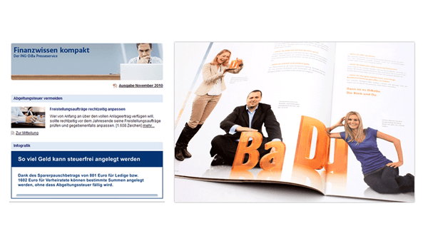 Webbasiertes Marketingportal der ING-DiBa